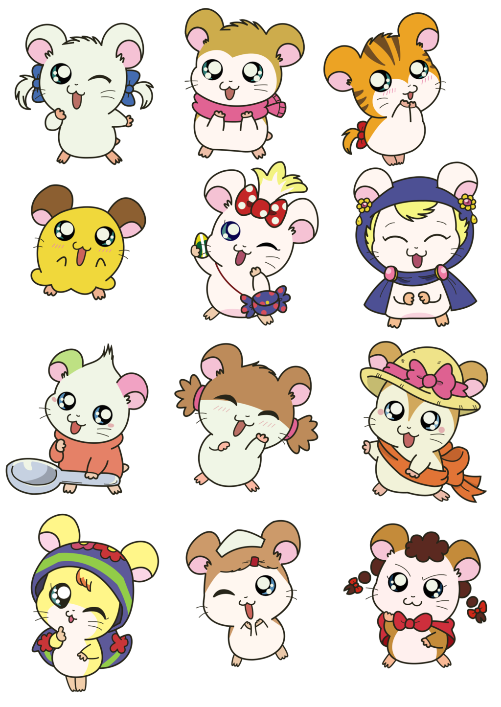 Hamtaro transparent ham. Hams girls cuuuuuuute pinterest
