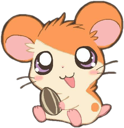 Hamtaro transparent hamster. Kawaii anime cute animals