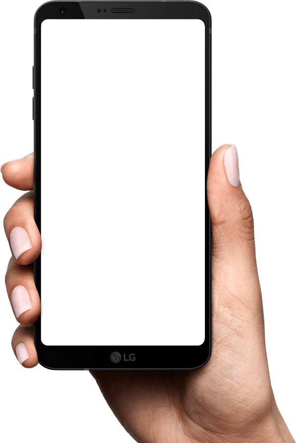 Hand cellphone png. Lg g mobile