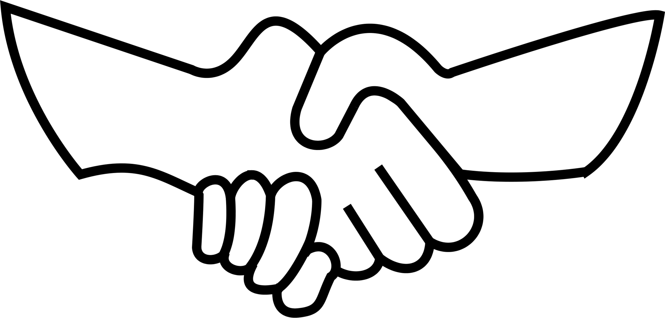 Hand clip clasped. Shaking hands image