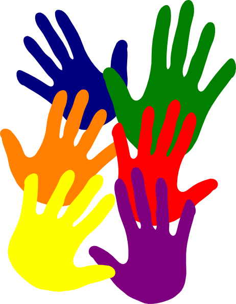 Hand clip colourful. Colorful hands clipart panda