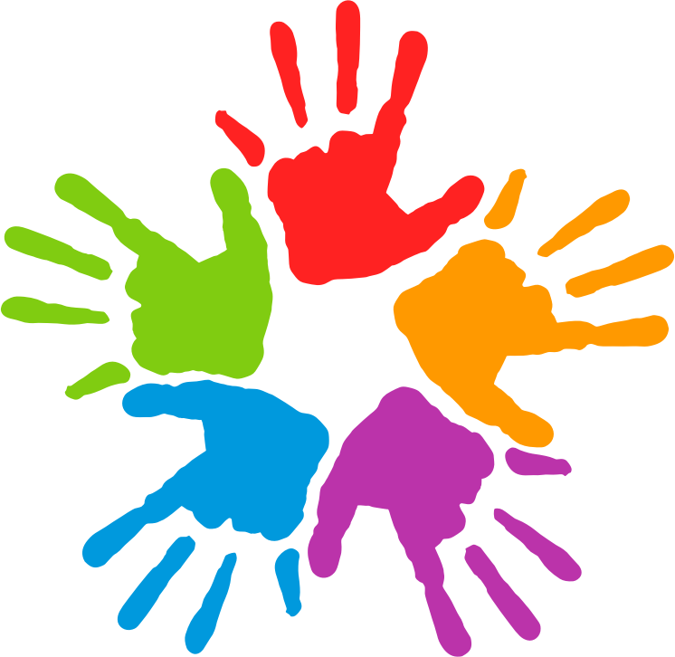Handprint transparent colorful. Unity clipart at getdrawings