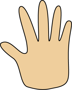 Hand clipart. Human