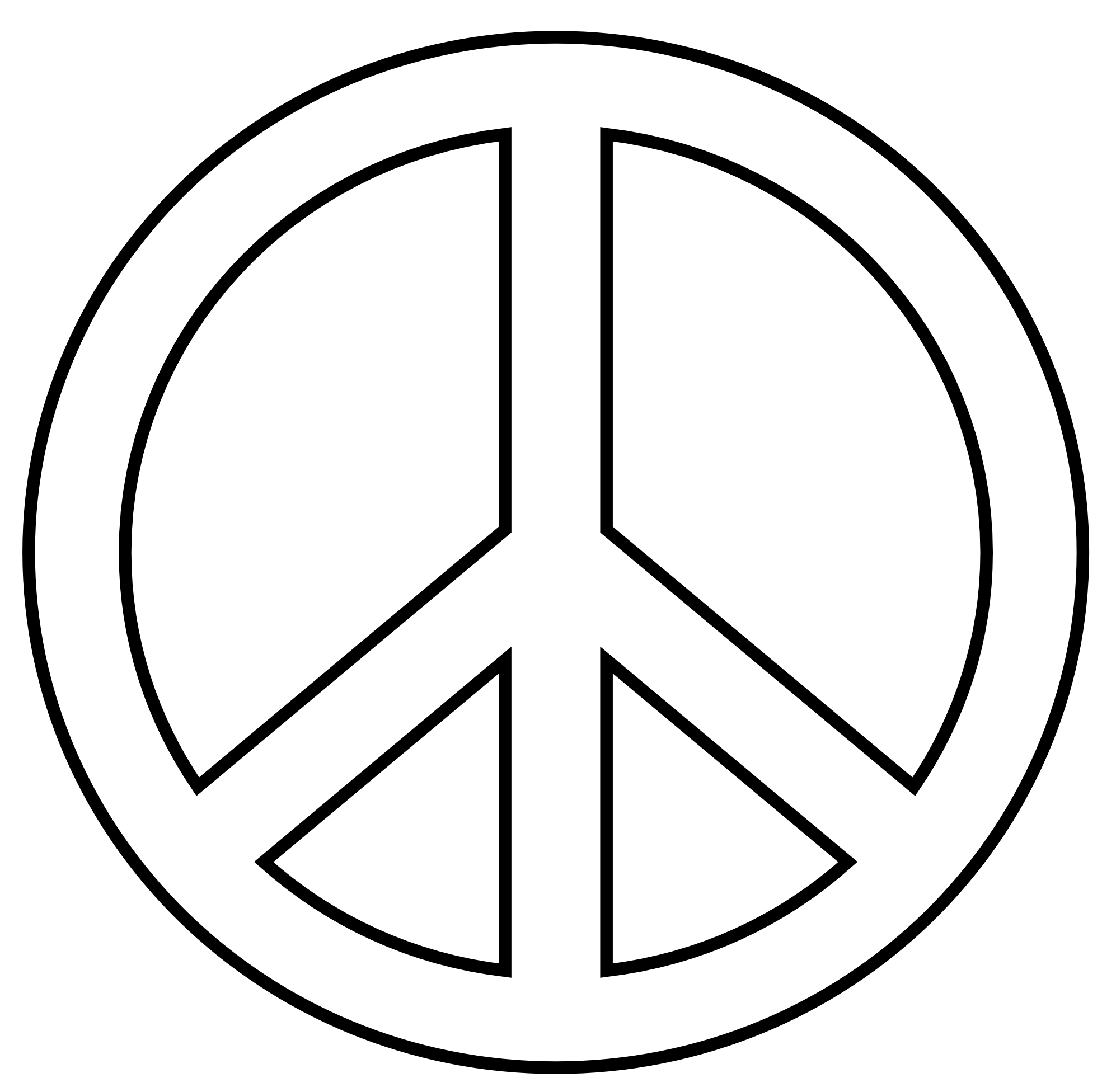 Hand clipart peace. Free cartoon sign download