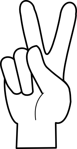 Hand clipart peace. Cartoon sign library clip