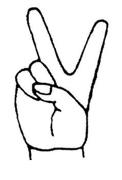 Hand clipart peace. Drawing at getdrawings com