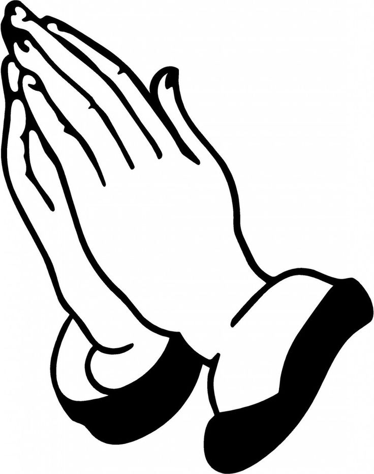 Hand clipart pray. Silhouette of praying hands