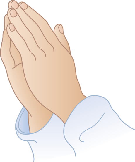 Hand clipart pray. Praying hands free clip
