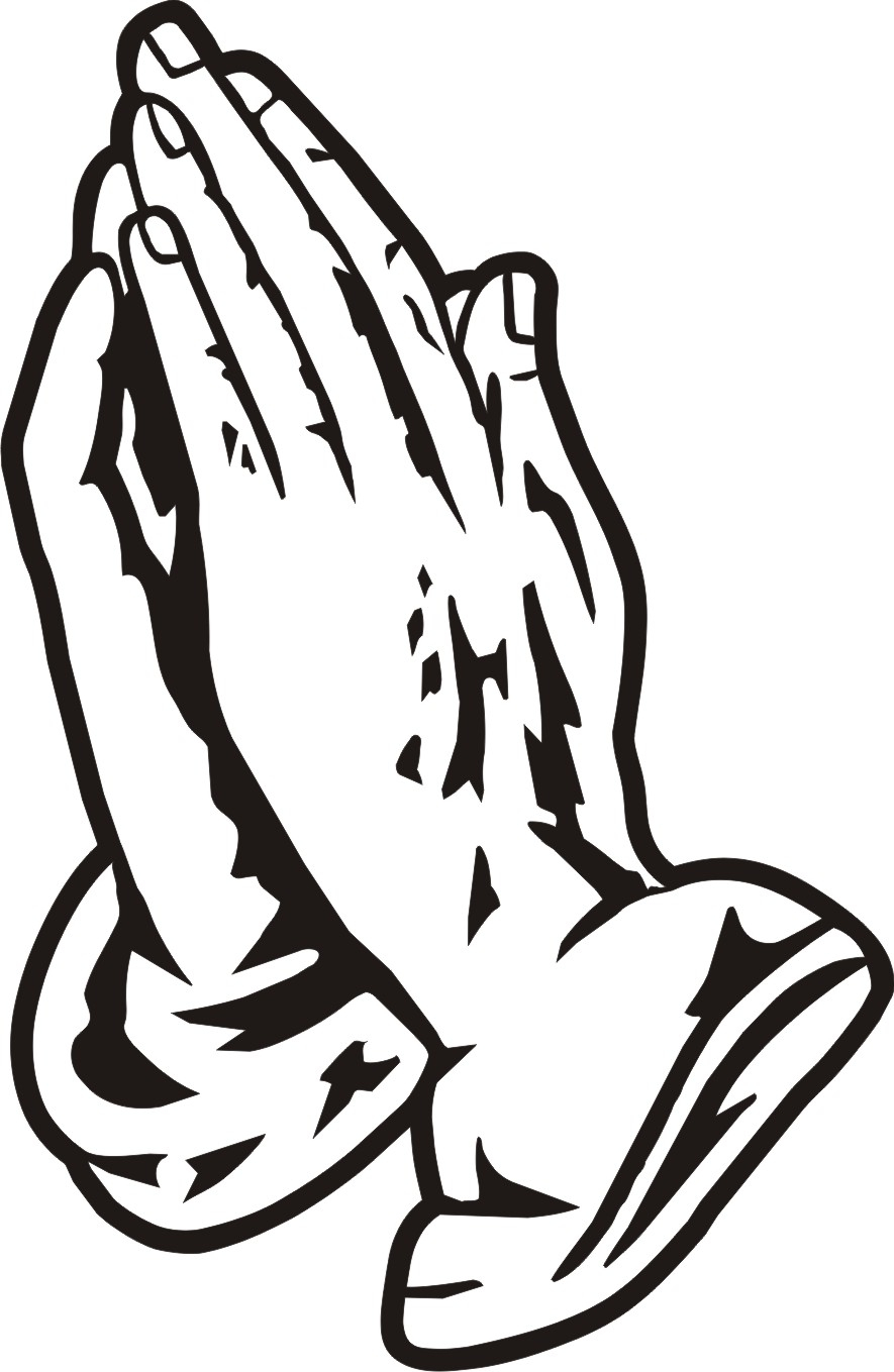 Hand clipart pray. Praying hands line drawing