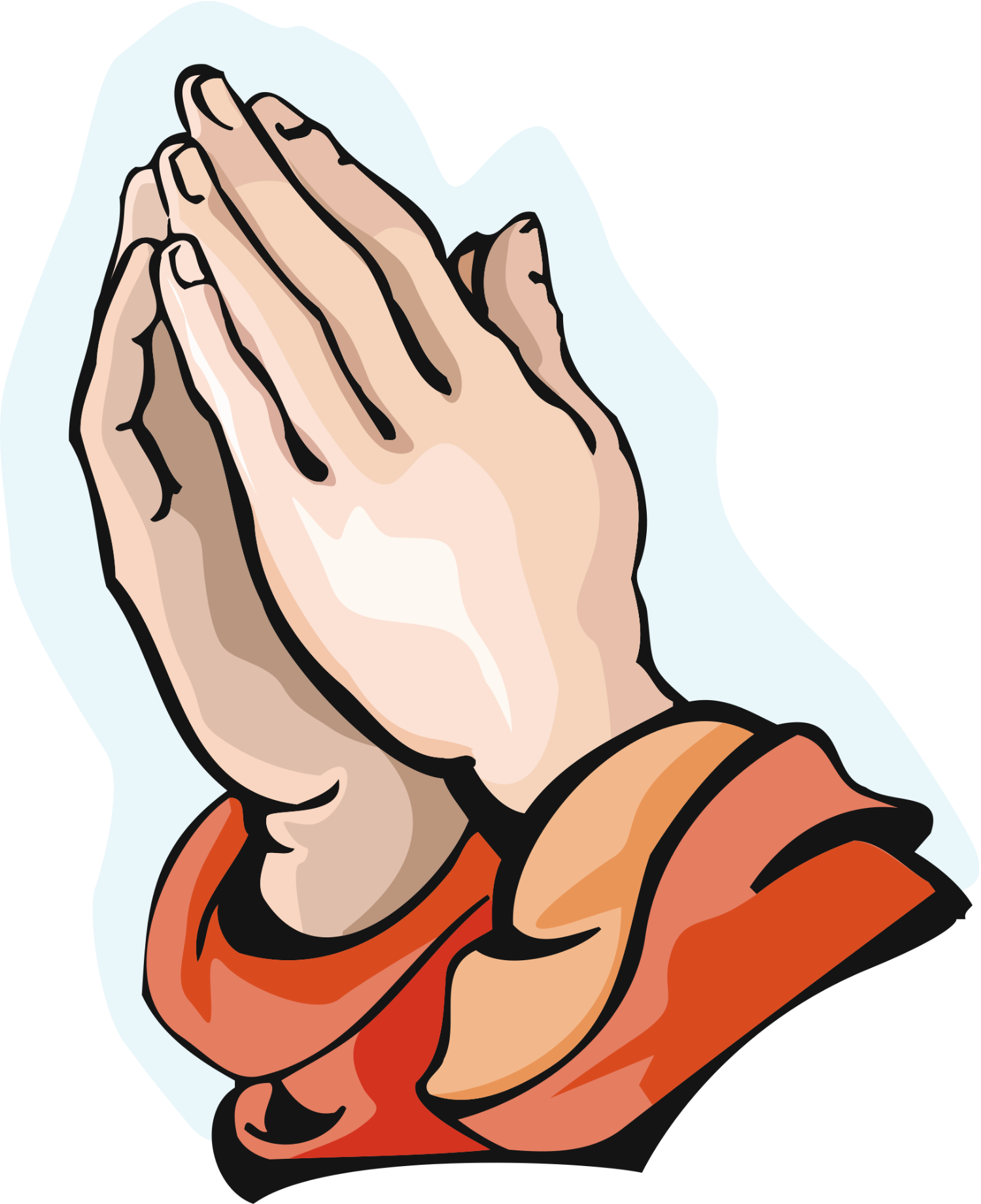 Hand clipart pray. Praying hands cartoon prayer