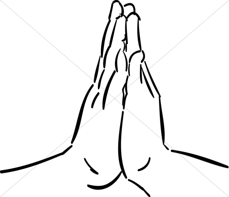 Hand clipart pray. Hands together in prayer