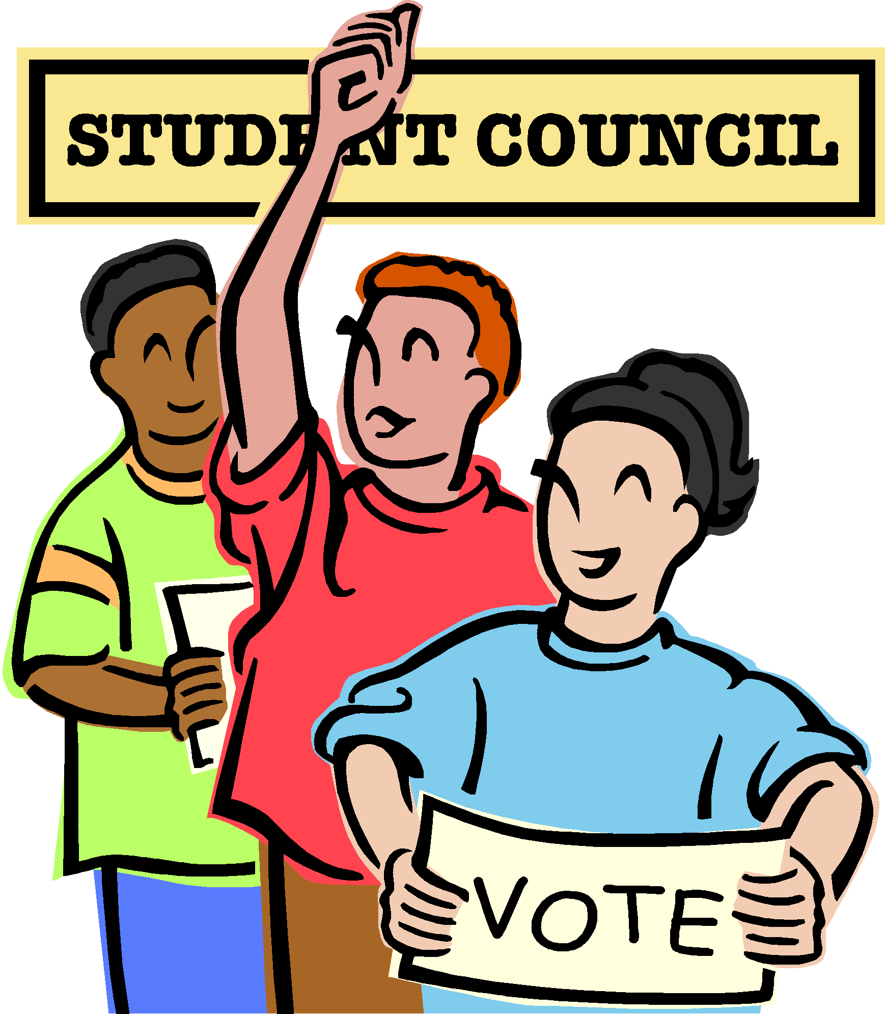 Hand clipart voting. Democracy student council election