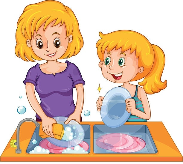 Hand clipart washing dish. Wash the dishes letters