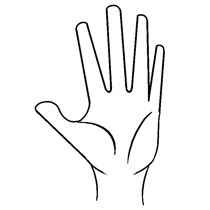 Fingers drawing. How to draw a
