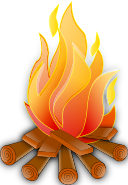 A fire extinguisher is. Hand drawn bonfire png graphic black and white