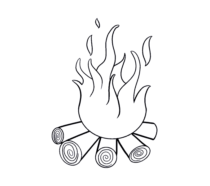 Hand drawn bonfire png. How to draw a