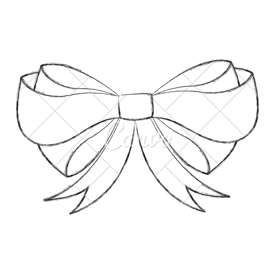 Christmas drawing at getdrawings. Hand drawn bow png vector royalty free stock