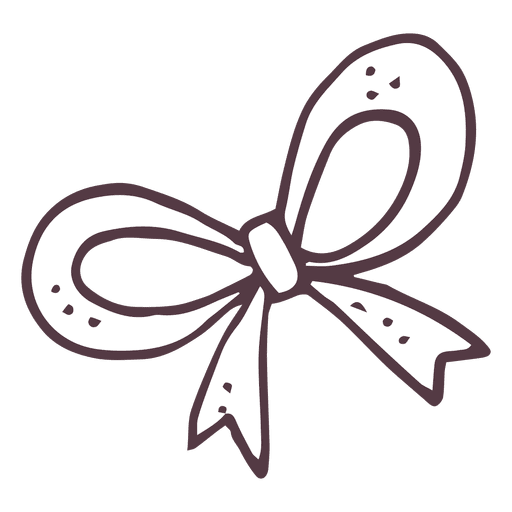 Hand drawn bow png. Icon transparent svg vector