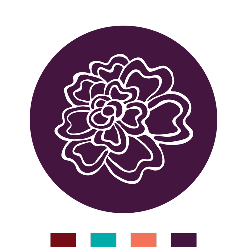 Hand drawn flowers png. Seal