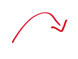 Hand drawn red arrow png. Image