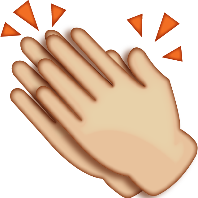 Clapping hands png. Download emoji icon island