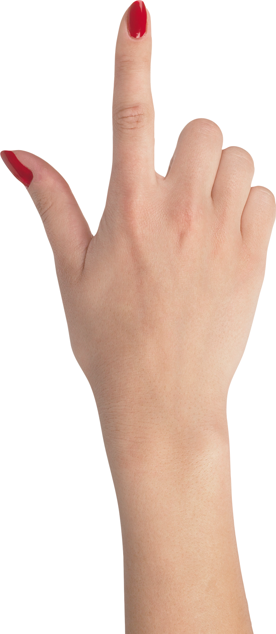 Female hands png. Hand pointing up real