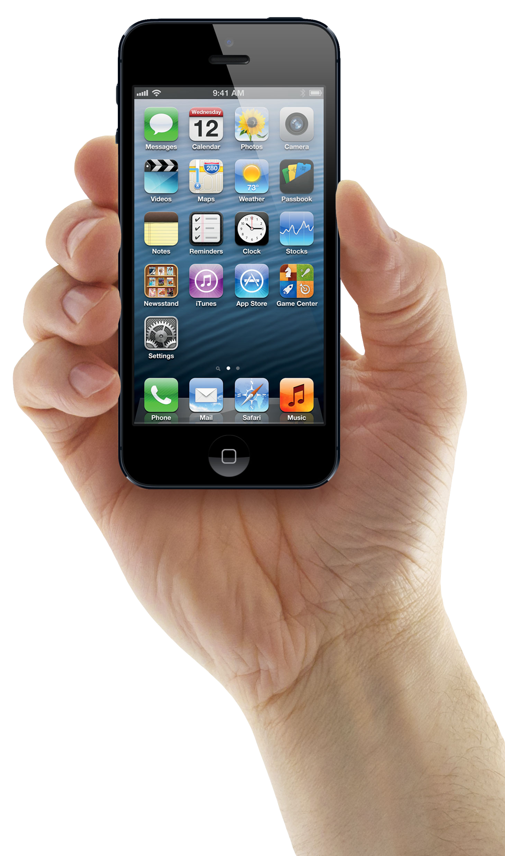 Hand holding cellphone png. Iphone mobile image