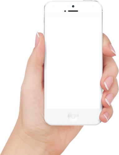 Hand holding cellphone png. Image