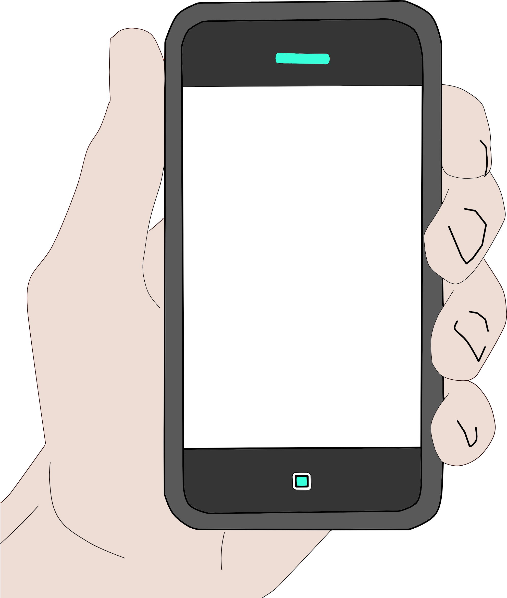Hand holding cellphone png. Cell phone icons free