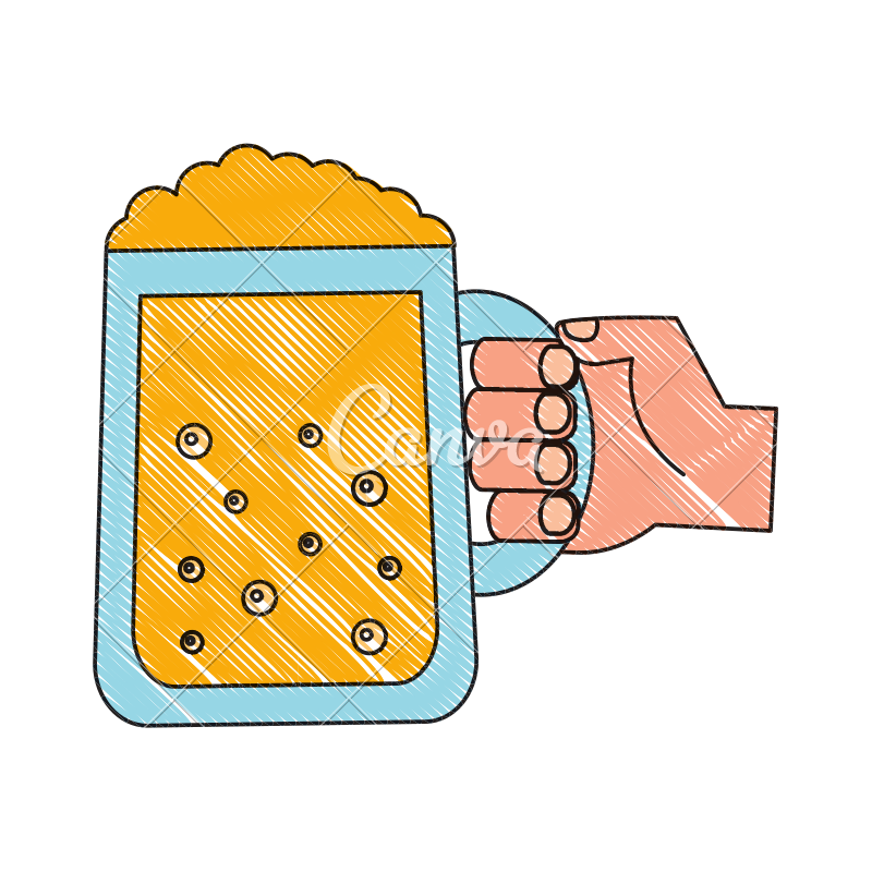 Hand holding drink png. Beer glass celebration icons