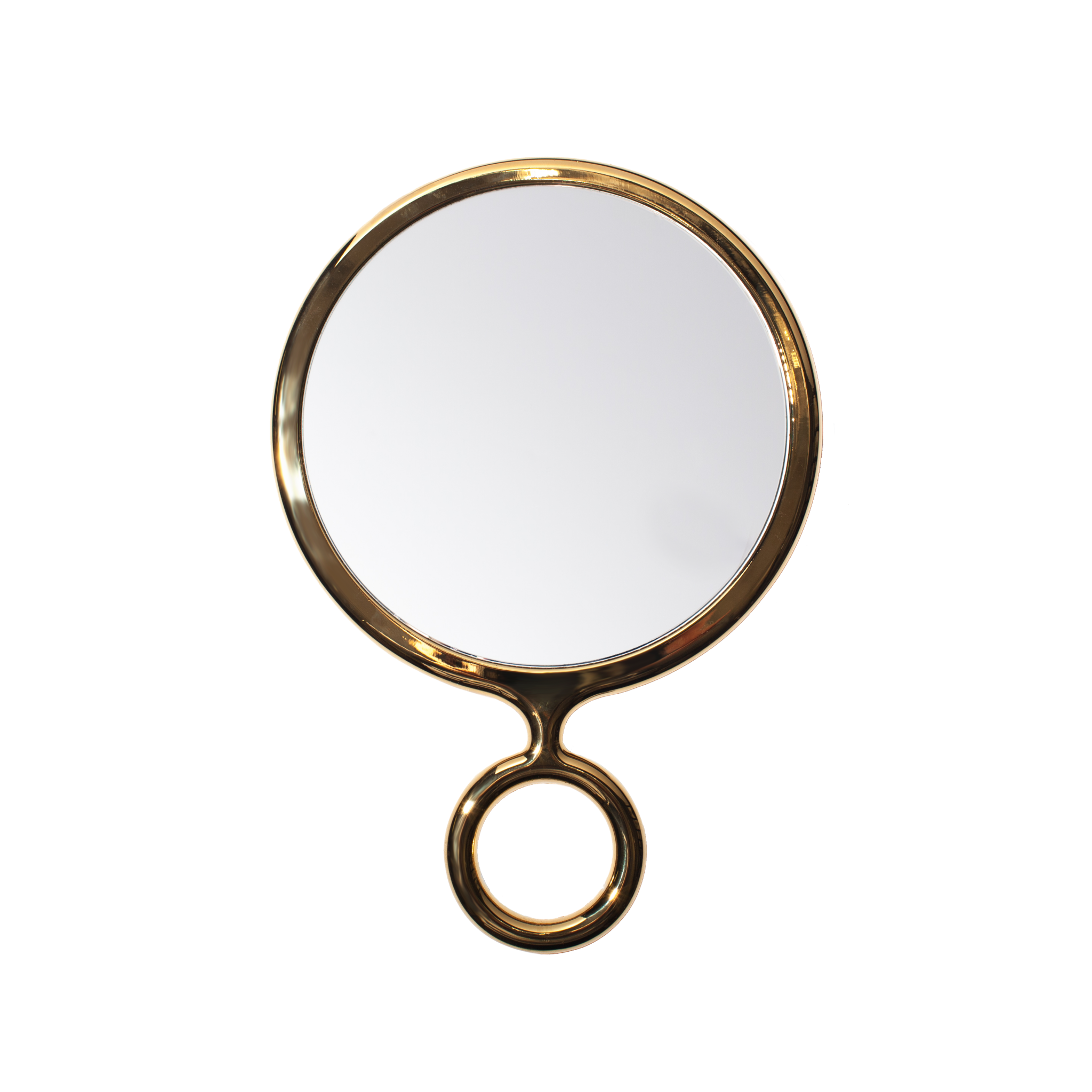 Hand mirror png. Gold handheld the elephant