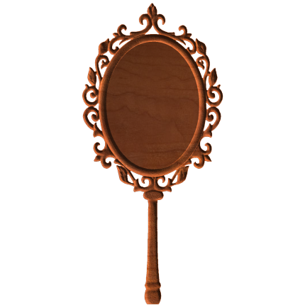 Hand mirror png. Blank