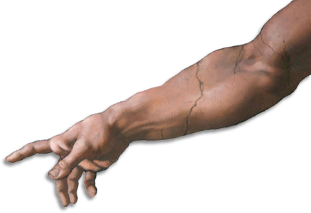 Hand of god png.