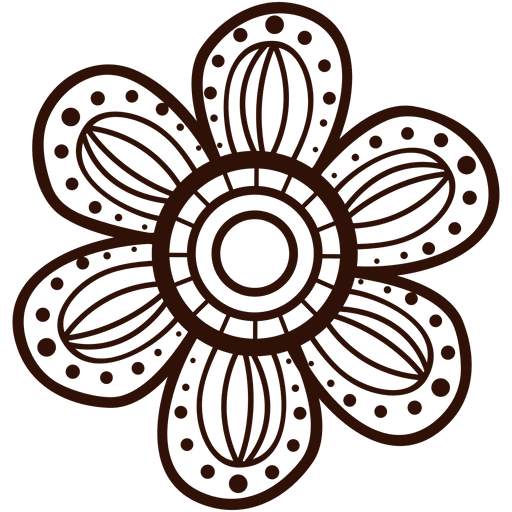 Funky flower transparent svg. Hand drawn flowers png svg library library
