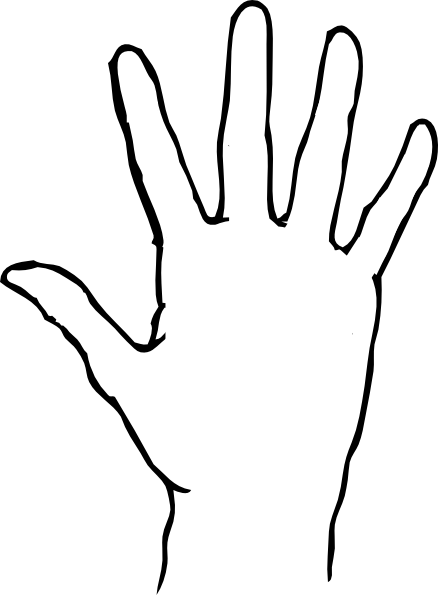 Hand outline png. Clipart