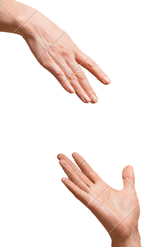 Hand reaching out png. Hands and touching each