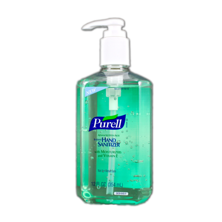 Hand sanitizer png. Purell instant with aloe
