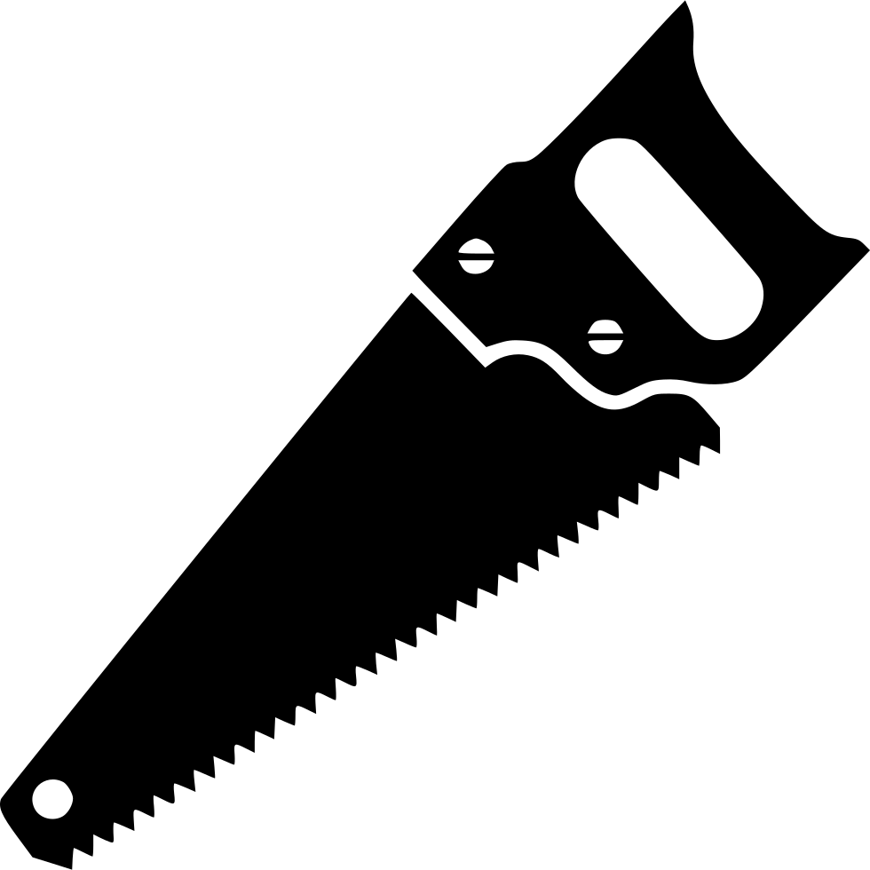 Hand saw vector black png. Svg icon free download