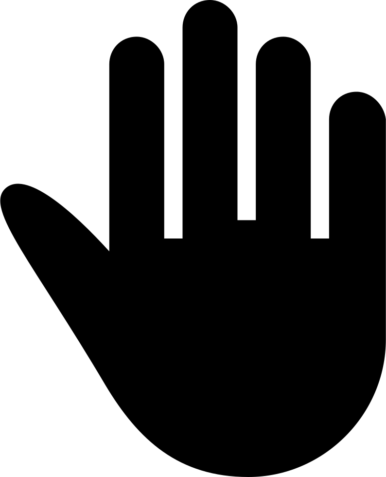 Hand silhouette png. High five black svg