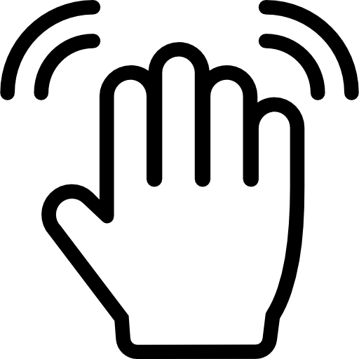 Hand wave png. Free gestures icons icon