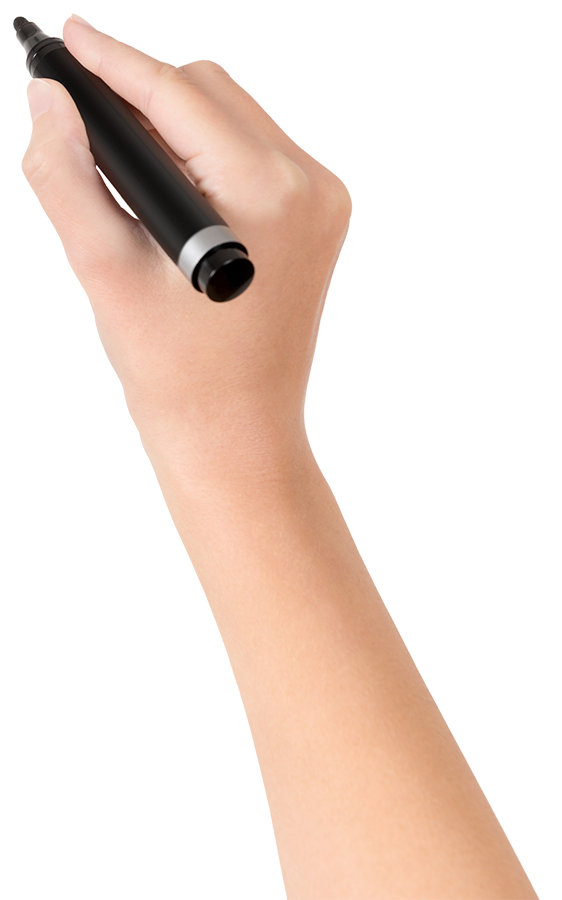 Hand with pen png. Drawing svg