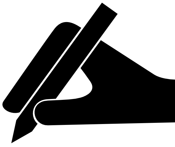 Hand with pen png. And clip art at