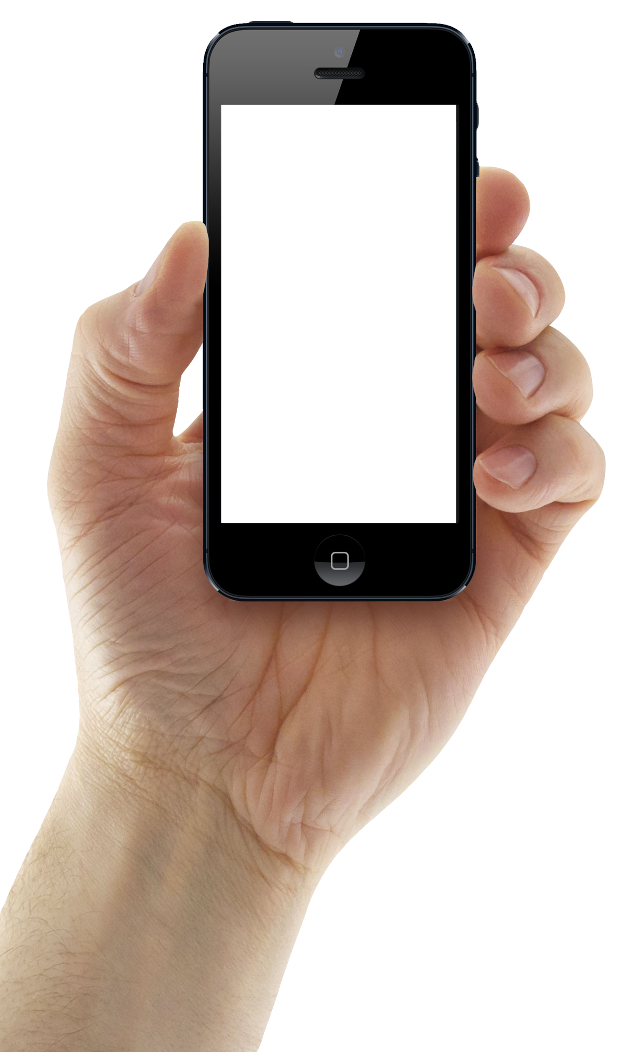 Hand with phone png. Holding iphone mobile image