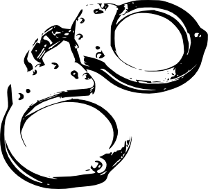Handcuffs clipart sketch. Clip art at clker