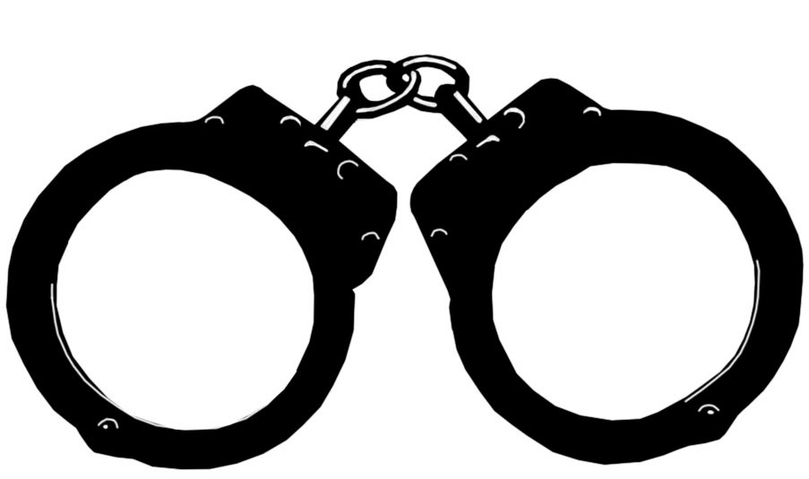 Handcuff clipart law enforcement. Police handcuffs letters inside