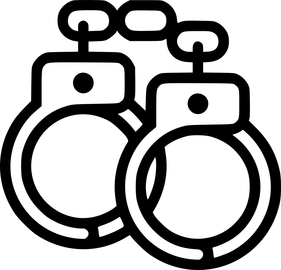 Handcuffs clipart shackles. Restraints svg png icon