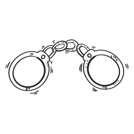 Handcuffs clipart sketch. Transparent png svg vector