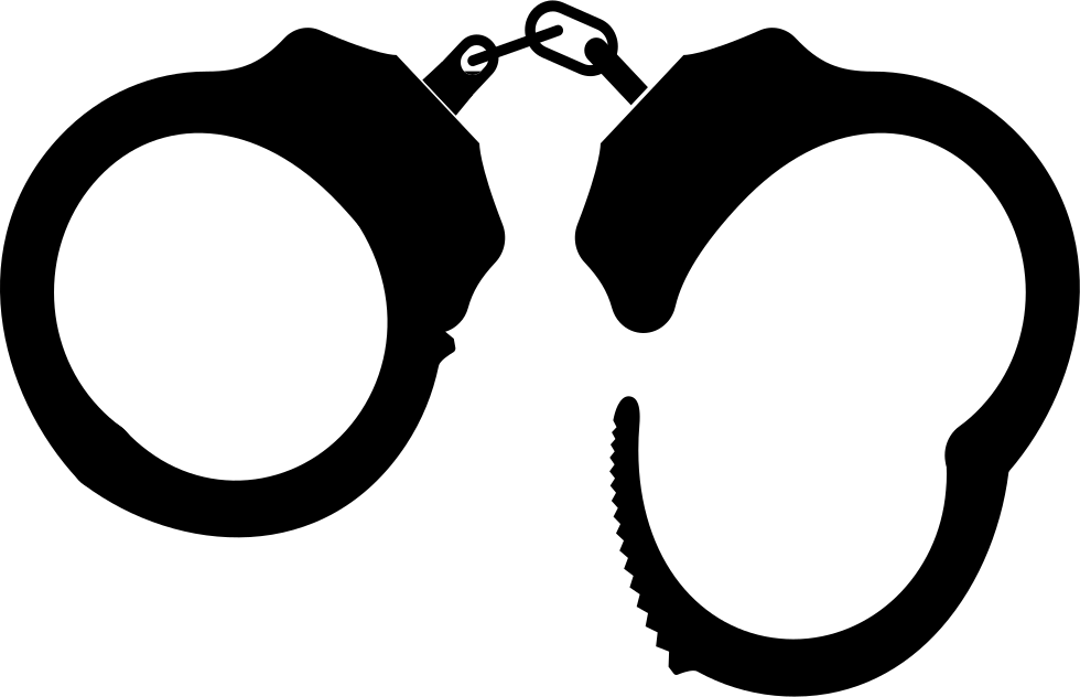 Handcuffs svg free police. Vector freeuse library