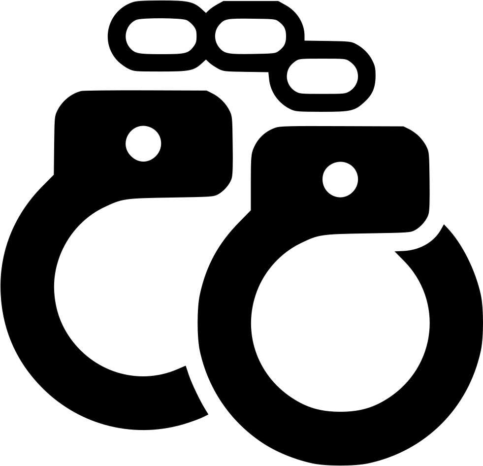 Handcuffs svg transparent background. Vector freeuse library