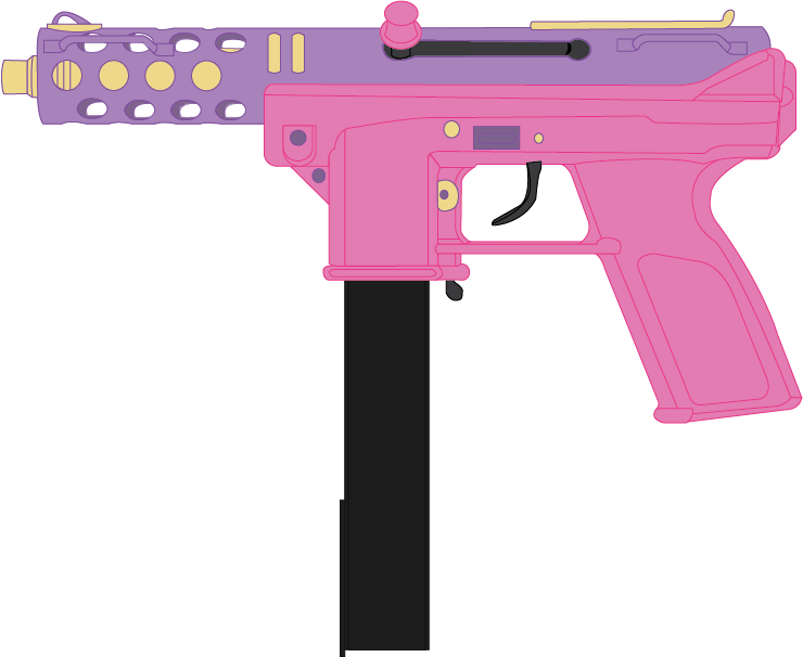 Handgun transparent aesthetic. Pistol png pink